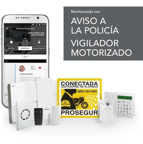 Kit Alarma Comercial Magnético + Cámara + Inalambrico 80 M2