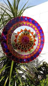 Mandala Violeta Com Espelho (40 Cm)