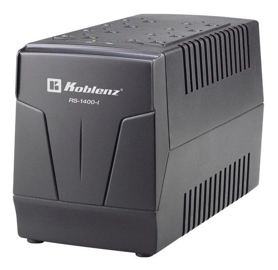 Regulador Koblenz 1400va Rs-1400-i 600watts 8 Contactos 4 Con Supresor De Picos 4 Regulados Pc Pantalla Aparatos Electro