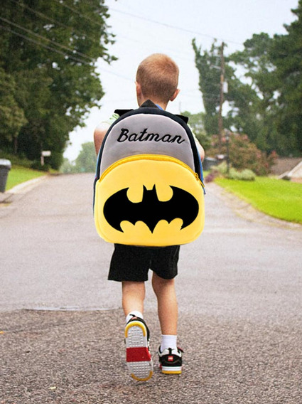 Mochila Escolar Bebê Batman Infantil Passeio Herói Dc Comics