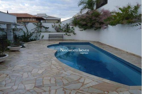 Casa Com 3 Suítes À Venda, 450 M² Por R$ 2.498.000 - Alphaville Dom Pedro - Campinas/sp - Ca0387