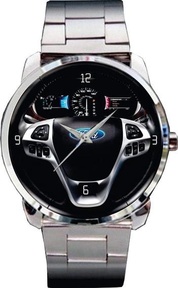 Relógio De Pulso Personalizado Painel Ford Edge -cod.forp003