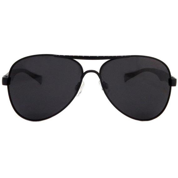 Óculos Aviador Italiano Siracusa Alumínio Polarizado Preto