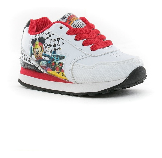 Zapatillas Disney Mickey Race Con Luces Cordon Addnice Mania