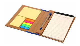Cuaderno Ecológico Set De Notas 18x14cm Con Bolígrafo