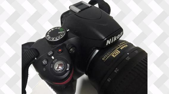 Câmera Nikon D3200 18-55mm + 64gb + Bolsa + Bateria Extra