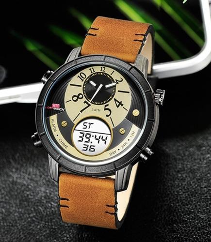 Relógio Esportivo Social Analógico Digital Kat-wach