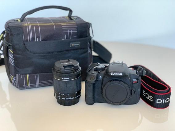 Camera Canon T5i + Lente 18-55