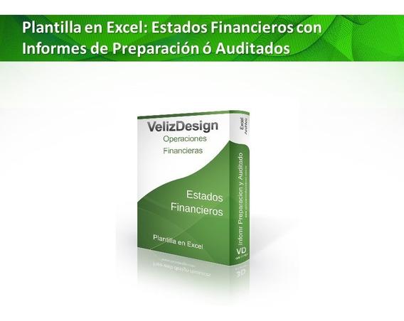 Plantilla Excel Estados Financieros Inf Preparacion Auditor