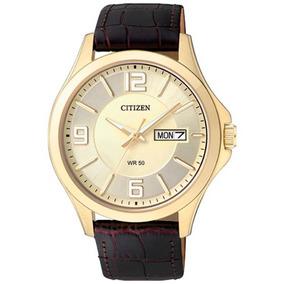 Relógio Citizen Gents Pulseira Couro Bf2003-09p / Tz20537x