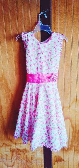 Vestido Floreado,para Niñas, Talla 12