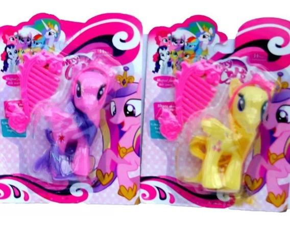 Juguete My Little Pony + Peine Equestria Pinkie Twiligh Niña