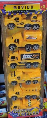 1 Kit De 6 Brinquedos De Fricção
