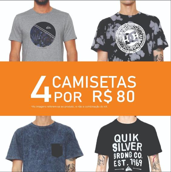 Kit Camiseta Masculina Quik E Dc