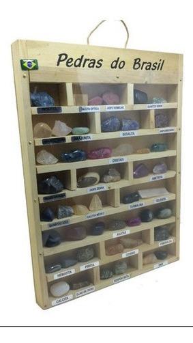 Coleção Com Pedras Do Brasil Estojo Semi Preciosas Naturais