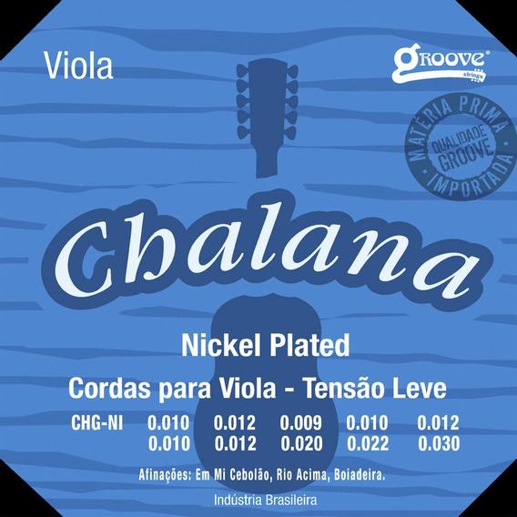 Encordoamento Viola Groove Chalana Tensão Leve Gchni Oferta.