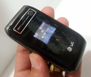 Celular LG Kp 215 D Chip Fliper Pequeno Visor Externo Lindo