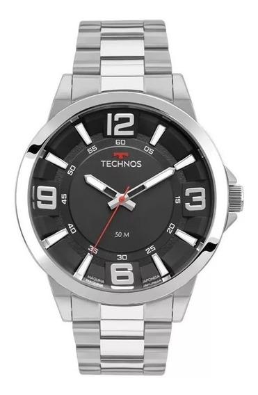 Relógio Technos Masculino Aço Prateado Prata 2036mLG/1p