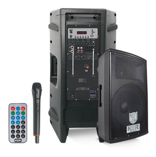 Bafle Amplificado Recargable 15 Ksr Msa-7515 Linea Premium