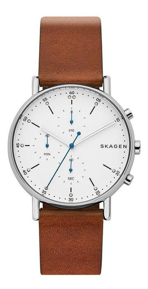 Relógio Skagen Masculino Analógico Pulseira Couro Ajustável