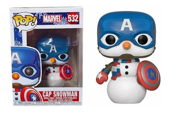Funko Pop Marvel Holiday Cap Snowman