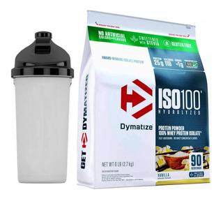 Whey Iso 100 Stévia 6lb ( 2,7kg ) Dymatize + Coqueteleira
