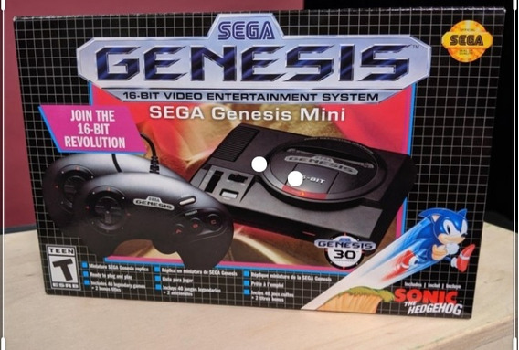 Lançamento Sega Genesis Mini 16bt Original Lacrado