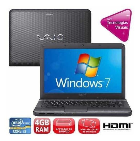 Notebook Sony Vaio I3