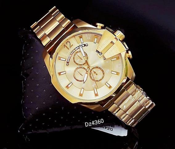 Relógio Diesel Dz4360 Dourado 18k Aço Inox - Mega Chief