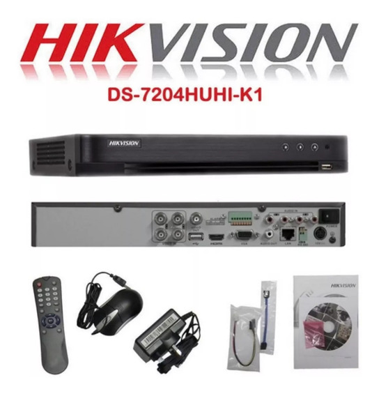 Dvr Stand Alone 4 Canais 5mp Ds-7204huhi-k1 Hikvision
