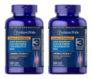 Glucosamina Condoitrina Msm 2x 120 Tabletes - Puritans Pride