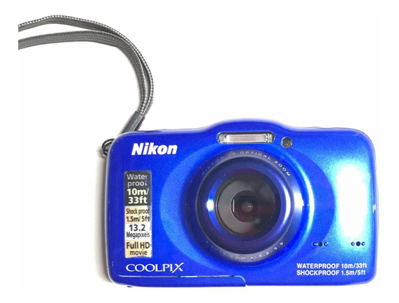 Cámara Nikon Coolpix S32 Sumergible, Resistente A Golpes.