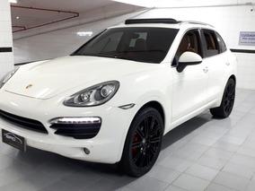 Porsche Cayenne 4.8 S 4x4 V8 Brancac/ Caramelo 2012 Teto Sol