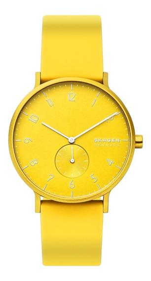 Reloj Unisex Skagen Aaren Kulor Neon Skw6557 Color Amarillo