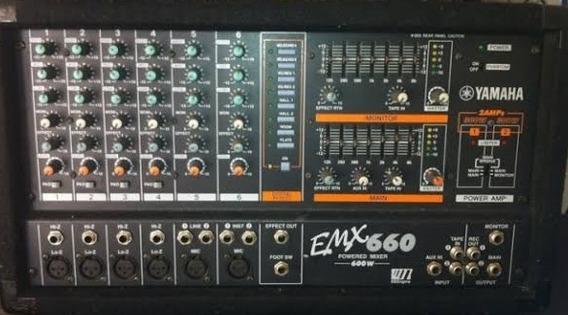 Cabeçote Yamaha Emx 660 Mesa Amplificada