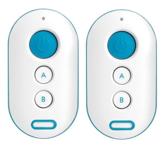 02 Controle Para Alarme E Portão Intelbras Xac 4000 Azul