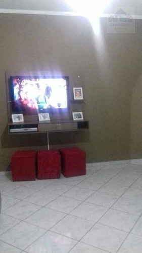 Casa À Venda, 108 M² Por R$ 349.000,00 - Caneleira - Santos/sp - Ca0466