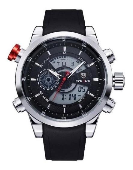 Relógio Original Weide Anadigi Wh-3401 Preto Prova D