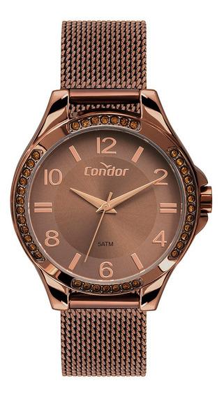 Relógio Condor Feminino Chocolate Esteira Co2035mtm/4m