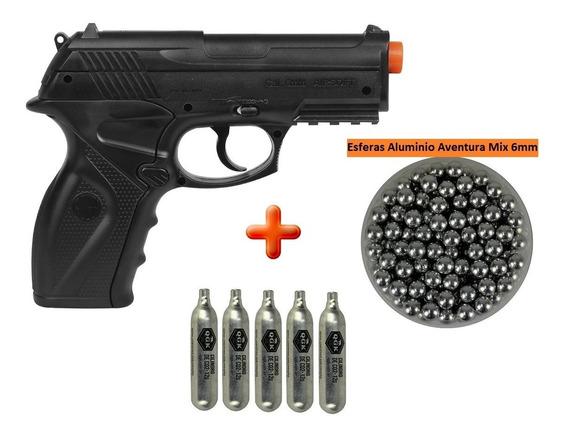 Pistola Airsoft Co2 Win Gun C11 6mm + Esferas Aluminio + Co2