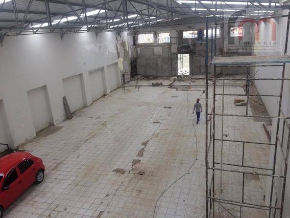 Galpão Comercial Para Locação, Macuco, Santos. - Codigo: Ga0007 - Ga0007