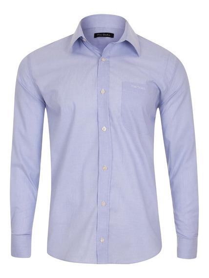 Camisa Social Classic Lilás Pierre Cardin