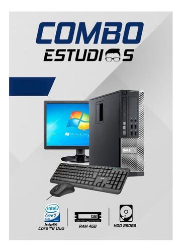 Imagen 1 de 1 de Equipo Intel Core 2duo  4gb Memoria Ram, Monitor De 19
