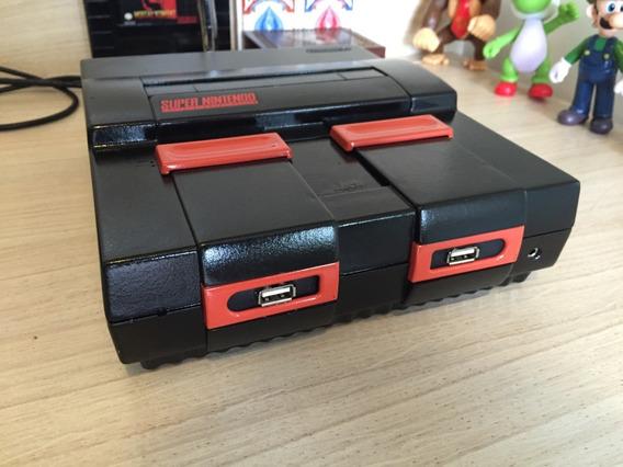 Super Nintendo Personalizado + 2 Mil Jogos + 2 Controles