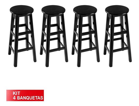 Kit 4 Banquetas Prisma Banco Alto Em Color Design Cozinha
