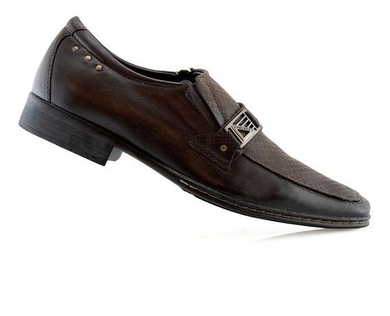 Zapatos Hombres Cuero Vestir 21733-03 Pegada Luminares
