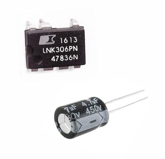 Ci Lnk306pn - Lote 25 Peças + 25 Capacitor 4,7 X 450v