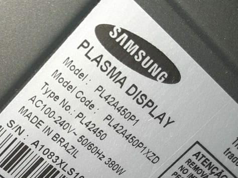 Tv Samsung 42 Modelo Plasma Pl42a450p1  Defeito Na Imagem