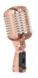 Microfono Multimedia Retro Vintage Pc Chat Graba Dorado