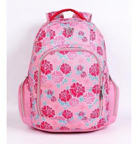 Mochila Capricho Média Escolar Juvenil Em 2 Cores Azul Rosa